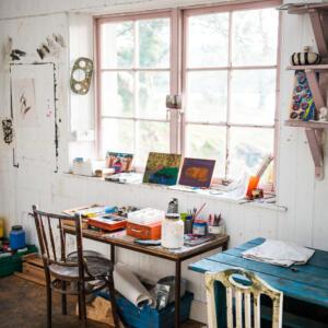 2 Inside Artist studio