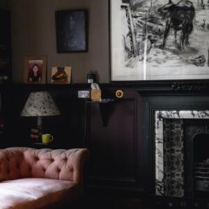 22 ESH int billiards room fireplace A Baxter copy